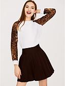 povoljno Majica s rukavima-Majica s rukavima Žene Dnevno Leopard