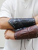 povoljno Muško egzotično rublje-Muškarci U obliku pletenice Širok prstenje - Koža Kereszt Punk, Rock Narukvice Crn / Braon Za Ulica Jabuka