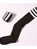 olcso Divatos fehérnemű-Női Combfix / Zokni / Térdig érő zoknik - Egyszínű / Csíkos Vékony Pamut / Tavasz / Ősz