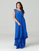 cheap Women's Dresses-Sweet Curve Women's Plus Size Street chic Lace / Skater Dress - Solid Colored Maxi