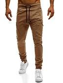 ieftine Pantaloni Bărbați si Pantaloni Scurți-Bărbați De Bază Bumbac Zvelt Pantaloni Chinos Pantaloni - Mată Bleumarin / Primăvară / Toamnă