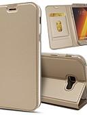 hesapli iPhone Kılıfları-Pouzdro Uyumluluk Samsung Galaxy A5(2018) / Galaxy A7(2018) / A3 (2017) Cüzdan / Kart Tutucu / Şoka Dayanıklı Tam Kaplama Kılıf Solid Sert PU Deri