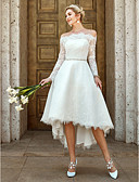 olcso Menyasszonyi ruhák-A-vonalú Aszimmetrikus Aszimmetrikus Csipke Made-to-measure esküvői ruhák val vel Csipke / Kristály melltű által LAN TING BRIDE®