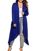 preiswerte Damenmäntel und Trenchcoats-Frauenlangmantel - einfarbig