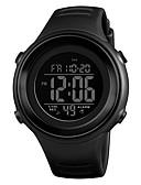 Недорогие Цифровые часы-SKMEI Муж. Спортивные часы Наручные часы электронные часы Японский Цифровой Стеганная ПУ кожа Черный / Синий / Зеленый 50 m Защита от влаги Будильник Календарь Цифровой На каждый день Мода -