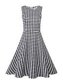 tanie Sukienki-Damskie Moda miejska Pochwa / Sukienka swingowa Sukienka - Pepitkę Do kolan