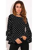 ieftine Tricou-Pentru femei Tricou De Bază - Buline