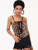ieftine Neopren-Pentru femei Cu Bretele bodysuit Leopard / Cu Bretele / Leopard