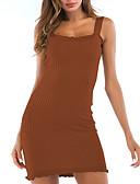 cheap Sweater Dresses-Women's Slim Bodycon Dress - Solid Colored Ruched Mini Strap