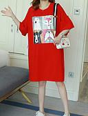 povoljno Maxi haljine-Žene Izlasci Širok kroj Majica Haljina Iznad koljena