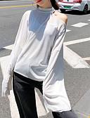 billige T-skjorter til damer-Enskuldret T-skjorte Dame - Ensfarget