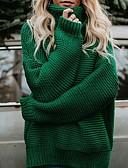 povoljno Dresses For Date-Žene Osnovni / Ulični šik Pullover - S izrezom, Jednobojni