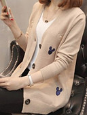 cheap Women's Sweaters-Women's Basic Long Sleeve Cardigan - Solid Colored / Fall