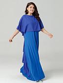 baratos Echarpes Coloridas de Chiffon-Mulheres Básico Boho Chifon Vestido Sólido Longo