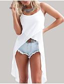 ieftine Tricou-Pentru femei Cu Bretele Tricou Ieșire Mată
