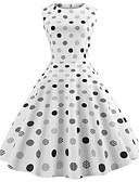 baratos Vestidos Vintage-Mulheres Vintage / Elegante Algodão Delgado Calças - Poá Branco / Para Noite