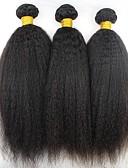 halpa Iltapuvut-3 pakettia Brasilialainen Kinky Straight 8A Aidot hiukset Hiukset kutoo Bundle Hair Aitohiuspidennykset 8-28 inch Luonnollinen väri Hiukset kutoo extention Paras laatu kuuma Myynti Hiukset Extensions