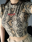 ieftine Tricou-Pentru femei Tricou Vintage - Geometric Imprimeu Alb negru