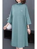cheap Casual Dresses-Women's Going out Loose T Shirt Dress Blue XL XXL XXXL