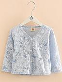 povoljno Majice za djevojčice-Djeca Djevojčice Jednobojni Dugih rukava Bluza