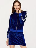 ieftine Costum Damă Două Bucăți-Pentru femei De Bază Bluză - Mată, Fustă