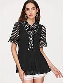 baratos Vestidos Femininos-Mulheres Blusa Sólido Decote V