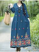 povoljno Ženske haljine-Žene Izlasci Korice Haljina V izrez Midi