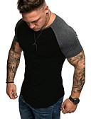 billige Poloskjorter til herrer-Skjortekrage Store størrelser T-skjorte Herre - Ensfarget Grunnleggende Svart XL / Kortermet