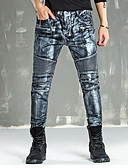 ieftine Pantaloni Bărbați si Pantaloni Scurți-Bărbați Activ Mărime Plus Size Bumbac Zvelt Blugi Pantaloni - camuflaj Găurite Auriu