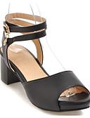 preiswerte Abendkleider-Damen Komfort Schuhe PU Sommer Sandalen Blockabsatz Schwarz / Beige / Rosa