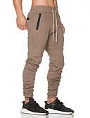 お買い得  メンズパンツ&ショーツ-男性用 ベーシック / ストリートファッション プラスサイズ コットン スリム スウェットパンツ パンツ - ソリッド ブラック / スポーツ