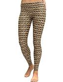 tanie Damska spódnica-Damskie Codzienny Podstawowy Legging - Geometric Shape, Nadruk Średni Talia