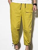 ieftine Pantaloni Bărbați si Pantaloni Scurți-Bărbați De Bază Pantaloni Chinos Pantaloni - Mată Negru