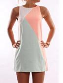cheap Party Dresses-Women's Plus Size Daily Retro Mini Sheath Dress - Color Block Orange Gray Yellow XL XXL XXXL / Sexy