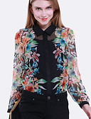 tanie Dwuczęściowe komplety damskie-Koszula Damskie Podstawowy, Nadruk Geometric Shape