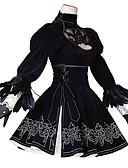ieftine Cămașă-Inspirat de Nier: automatelor 2B Anime Costume Cosplay Costume Cosplay Anime / Floral / Botanic Rochie / Mănuși / Șosete Pentru Pentru femei