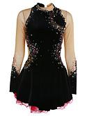 זול שמלות להחלקה על הקרח-שמלה להחלקה אמנותית בגדי ריקוד נשים בנות החלקה על הקרח שמלות שחור ספנדקס ריינסטון אפליקציות גמישות גבוהה הצגה ביגוד להחלקה על הקרח עבודת