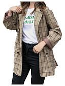 preiswerte Kleider für die Blumenmädchen-Damen - Schottenstoff / Kariert Grundlegend Jacke