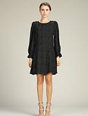 cheap Women's Dresses-Women's Daily / Going out Lantern Sleeve Slim Chiffon / Shirt Dress Fall White Red XL XXL XXXL