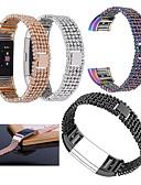 halpa Smartwatch-nauhat-Watch Band varten Fitbit Charge 2 Fitbit Urheiluhihna Ruostumaton teräs / Keraaminen Rannehihna