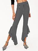 ieftine Pantaloni de Damă-Pentru femei De Bază Bumbac Pantaloni Chinos Pantaloni - Dungi Negru
