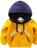 hesapli Erkek Kapşonluları ve Svetşörtleri-Bebek Genç Erkek Temel Günlük Solid / Desen Uzun Kollu Normal Kapşonlu ve Svetşört Koyu Mavi / Toddler
