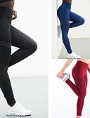 cheap Romantic Lace Dresses-Women's Yoga Pants Sports Solid Color Spandex High Rise Tights Zumba Fitness Gym Workout Activewear Moisture Wicking Compression Butt Lift High Elasticity