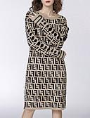 abordables Vestidos de Talla Grande-Mujer Algodón Recto Vestido Midi