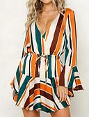 cheap Print Dresses-Women's Going out Slim Sheath Dress V Neck