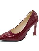 ieftine Rochii de Damă-Pentru femei Pantofi Pumps Sintetice Primăvara & toamnă Englezesc Tocuri Toc Stilat Vârf ascuțit Argintiu / Rosu / Vișiniu