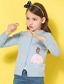 halpa Tyttöjen yläosat-Lapset Tyttöjen Perus Yhtenäinen Painettu Pitkähihainen Puuvilla Villapaita ja neuletakki Punastuvan vaaleanpunainen