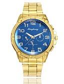ieftine Ceasuri de Lux-Bărbați Ceas Elegant Ceas de Mână Quartz Model nou Ceas Casual Aliaj Bandă Analog Casual Modă Auriu - Alb Albastru Un an Durată de Viaţă Baterie