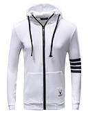 cheap Men's Jackets & Coats-Men's Plus Size Basic Long Sleeve Hoodie - Color Block Hooded