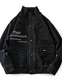 ieftine Pantaloni Bărbați si Pantaloni Scurți-Bărbați Jachetă Mată Bumbac / Manșon Lung